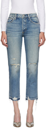 Amo Blue Rigid Babe Jeans