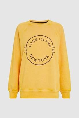 Next Womens Ochre Graphic Sweatshirt