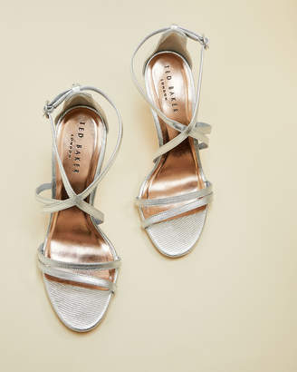 Ted Baker FLORETL Metallic strappy leather sandals