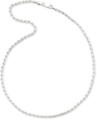 PRIVATE BRAND FINE JEWELRY Sterling Silver 18-24 2.8mm Rope Chain