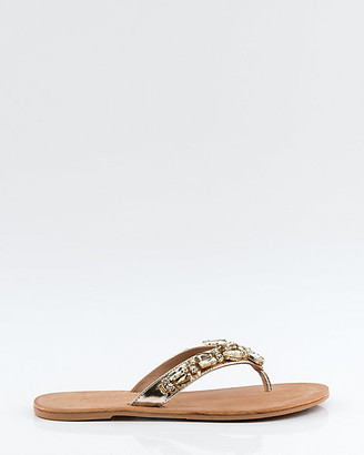 3f1a281d6416 Le Château Jewel Embellished Leather Thong Sandal