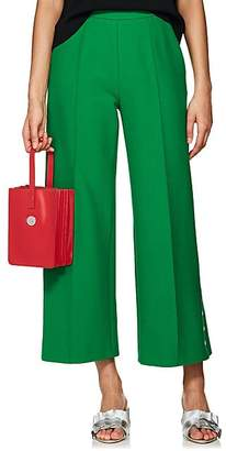 Lisa Perry Women's Crop Wide-Leg Trousers - Green