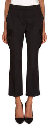 Redemption Straight-Leg Wool Pants with Cargo Pockets
