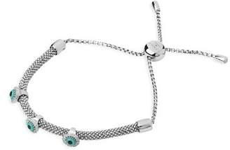 Links of London Sterling Silver Starlight Evil Eye White Sapphire Bracelet
