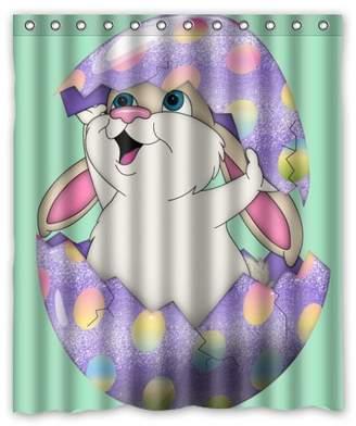 "Creative Bath Easter rabbit egg Shower-curtain Easter rabbit egg Shower Curtain (60"" x 72"" )"