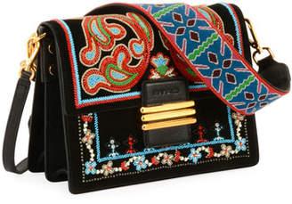 Etro Bead-Embroidered Flap Shoulder Bag