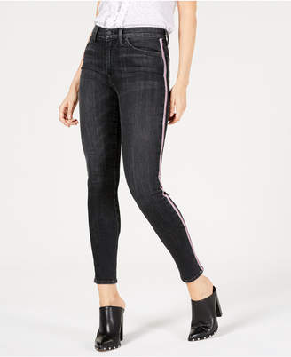 Hudson Jeans Barbara Side-Striped Skinny Jeans