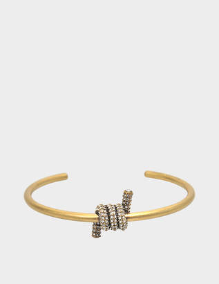 Marc Jacobs Twisted Pave cuff