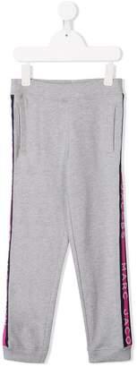 Little Marc Jacobs logo stripe track pants