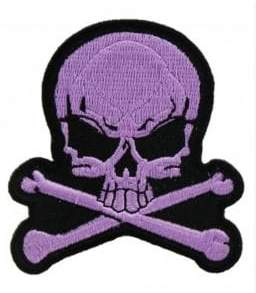 Logophile Embroidered Skull& Bones Patch