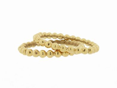 Jennifer Meyer Bead Ring in Yellow Gold