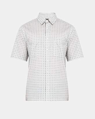 Theory Cotton Dot Print Relaxed Shirt