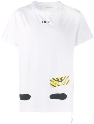 Off-White graffiti logo print t-shirt $270 thestylecure.com