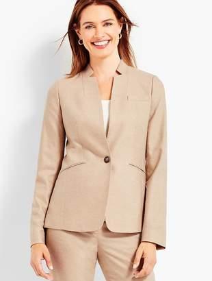 Talbots Luxe Wool Cashmere Flannel Single-Button Blazer