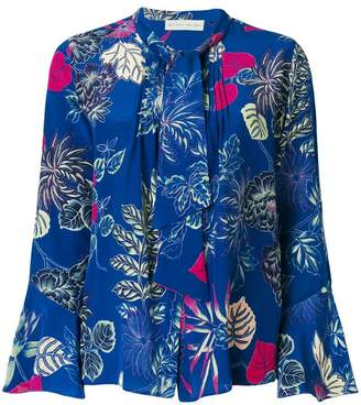 Etro floral print pussy-bow blouse