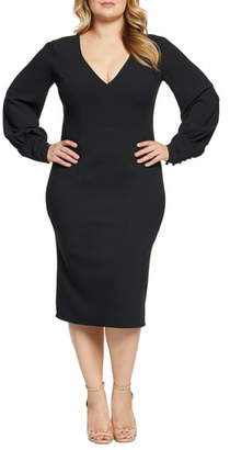 Dress the Population Norah Long Sleeve Cocktail Dress