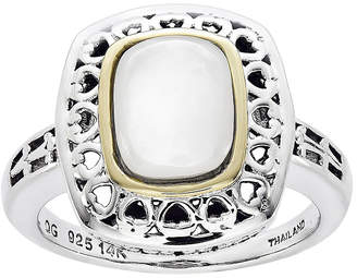 Mother of Pearl FINE JEWELRY Shey Couture Antiqued Mother-of-Pearl Sterling Silver Ring