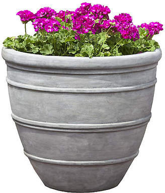 "Campania International 16"" Avendia Outdoor Planter - Concrete"