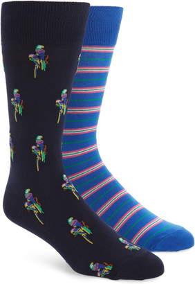 Polo Ralph Lauren 2-Pack Parrot & Stripe Socks