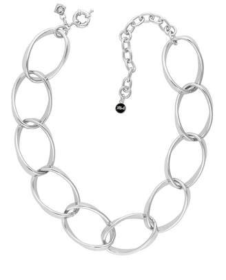 Karl Lagerfeld Rhodium Plated Bold Curb Chain Link Necklace