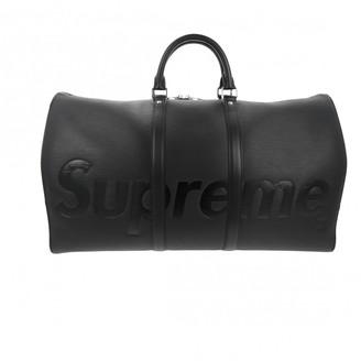 Louis Vuitton X Supreme Black Leather Travel Bag
