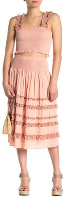 Allison New York Frill Ruffle Trim Midi Skirt