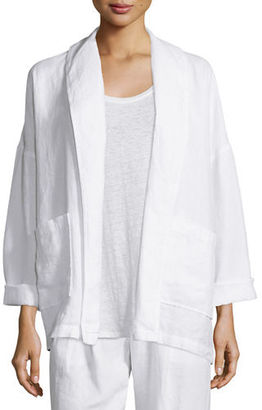 Eileen Fisher Heavy Linen Jacket with Pockets $258 thestylecure.com