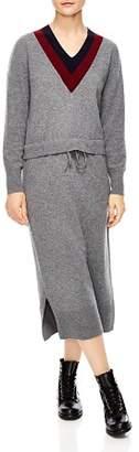 Sandro Bruyère Stripe Sweater Dress