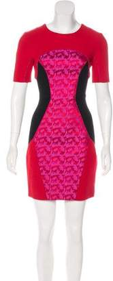 Matthew Williamson Silk Mini Sheath Dress