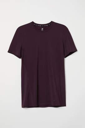 H&M Short-sleeved Sports Shirt - Purple