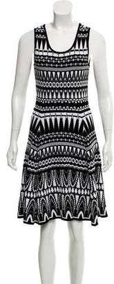 Milly Abstract Pattern Midi Dress w/ Tags