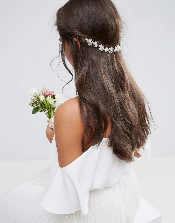 ASOS WEDDING Flower Back Hair Crown