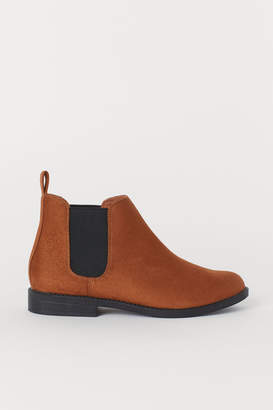 H&M Pile-lined Chelsea Boots - Beige