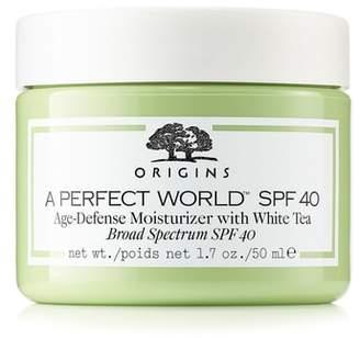 Origins A Perfect World(TM) SPF 40 Age-Defense Moisturizer with White Tea