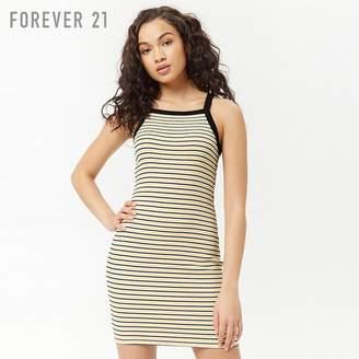 Forever 21 (フォーエバー 21) - Forever 21 ボーダーキャミソールミニワンピース