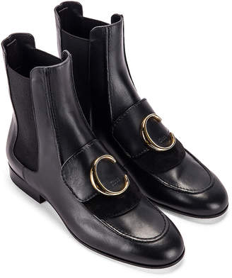 Chloé C Ankle Boots in Black | FWRD