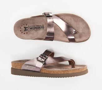 Mephisto Leather Toe Loop Sandals - Helen