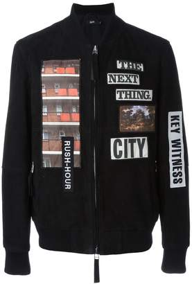 Blood Brother patch detail bomber jacket