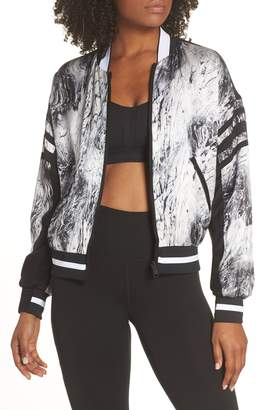 Blanc Noir Natoma Reversible Silk Bomber Jacket