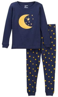 Leveret Two-Piece Pajama Moon Stars (Toddler Boys)