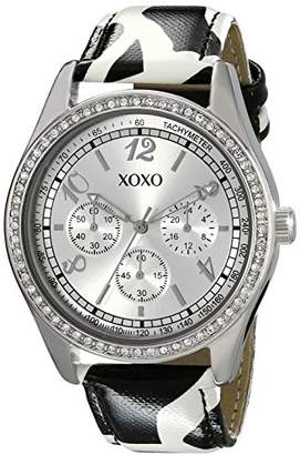 XOXO Women's XO3170 Dial Black and White Giraffe Strap Watch