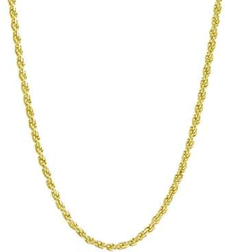 .8MM Rope Chain Necklace - 14K Solid Gold - 16""