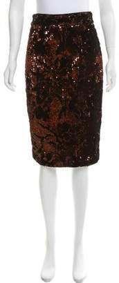 Milly Velour Sequin Skirt w/ Tags