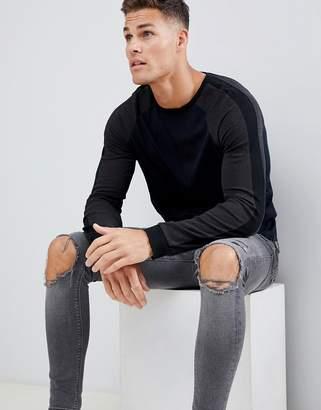Celio Muscle Fit Long Sleeve Top With Raglan Sleeve