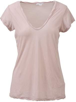 James Perse V Neck T-shirt Light Pink