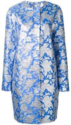 MSGM roses jacquard midi coat