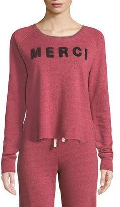 Sundry Merci Graphic Raglan Sweatshirt
