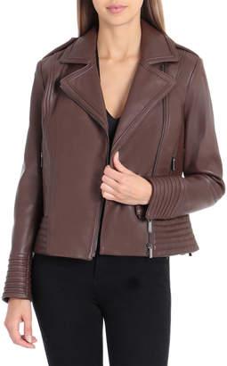 Badgley Mischka Gia Leather Biker Jacket