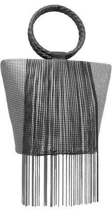 Whiting & Davis Bracelet Fringe Bucket Clutch Bag