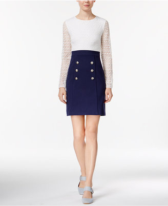 Maison Jules Lace-Contrast Sailor Dress, Only at Macy's $99.50 thestylecure.com
